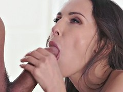 brunette lily moon likes when her friend fucks her tight butt