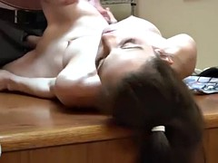 slim brunette at boss office (part 1)