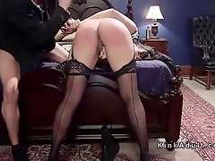 Busty Milf and blonde brat anal threesome