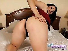 Cassandra Calogera fondles her big natural tits