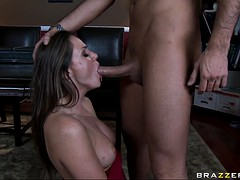 tori black gets mouth fucked by the big boner in the office