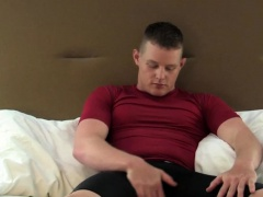 Military hunk jerks off until a warm finish