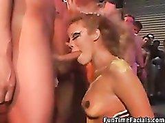 Messy facials video