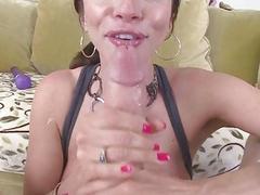 Cock loving babe Ariella Ferrera