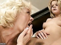 Lesbian piano teacher eats her