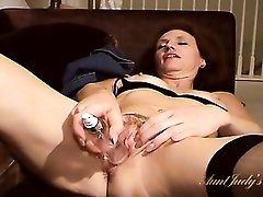 Dirty girl fingers her asshole and toys her pussy