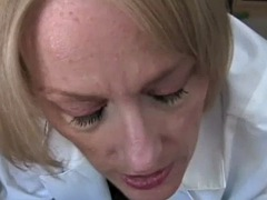 mature medical examnd blow from doctor milf