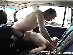 Dude fucks a truck stop hooker in his car