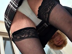 British granny nasty audrey likes to play with her old pussy