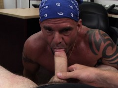 Buff amateur ass railed