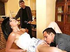 He watches another man arouse his wife