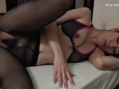 Nylon stockings maid low maid fetish sex