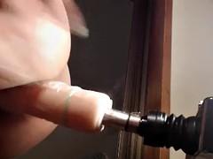 korean camgirl in pantyhose fucks sex machine