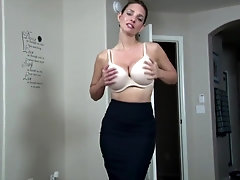 Mindi Mink is a big-titted cougar who is not bashful at all to suggest her unshaved snatch