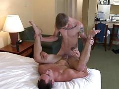 Tatted Marine fucks buddy