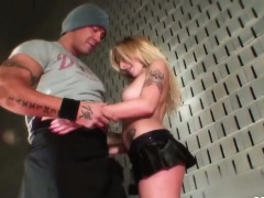 Blonde teen Sylvie fingered In front of audience