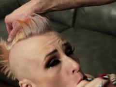 Pierced punk slut fucked