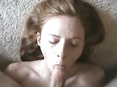 Readhead like cum on her face