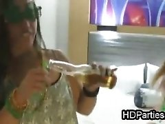 Leaked beer and blowjob party video