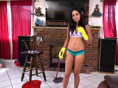 young black housemaid vienna black gets paid for fucking rich party guy
