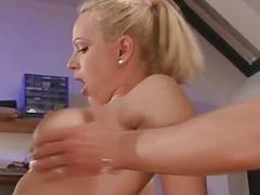 Busty amateur girlfriend anal threesome with facia