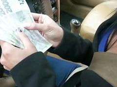 Female driver railed in the cab for cash