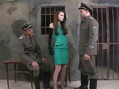 Two prison guards fucking hot girl