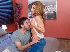 Experienced mommy India Summer is fucking with a young man