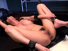 Submissive sluts get their holes toyed, fingered and fucked