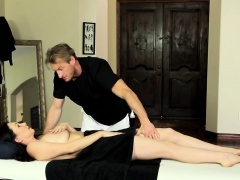 Busty MILF pussyfucked by lucky masseur