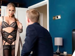 Hot big-boobed blonde Alessandra Jane nailed by a giant dick