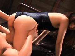 Busty japan gal throats in horny scenes of bondage xxx