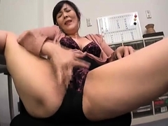 Slutty Japanese lady has a fiery cunt yearning for hard meat