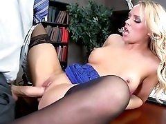Office slut Alexis Monroe banged by a big dick