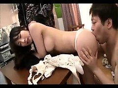 Sultry Japanese babe delivers a hot blowjob and gets her sl