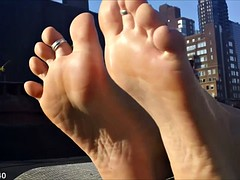 The soles of feet and toes wiggling compilation