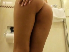 Sweetheart gives you a chance to watch her working her muff