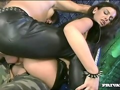 Lucy Dominates These Guys and Gets Them to Fuck Her Pussy and Ass