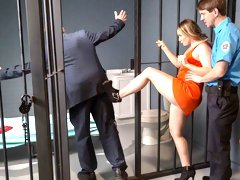 Big-bottomed chick AJ Applegate likes intensive dick riding in the jail