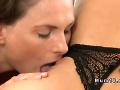 Lesbian matures licking on the couch