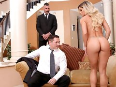 Awesome MILF with huge boobs Jessa Rhodes likes double penetration