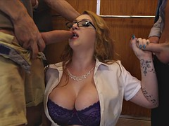 huge breasted whore harmony reigns serves two big cocks