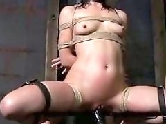 BDSM Extreme Movies tied up girl loves it super rough