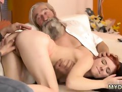German old and young threesome Unexpected experience