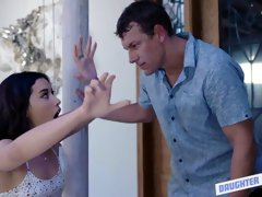Two sweet chicks Aria Lee and Stevie Grey are getting fucked