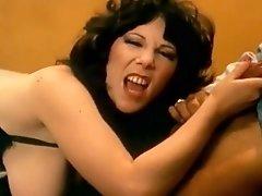 Hot Vintage Brunette In Sexy Lingerie Gets Breathtaking Orgasm