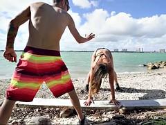 kelsi monroe does sports on the beach