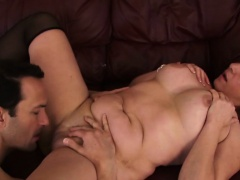 Caliste gets her saggy pussy penetrated