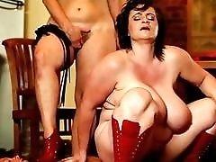 Curvy fat chicks order their slave to fuck them BDSM