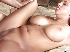 Milf with plumpy boobs gets her pussy dicked down